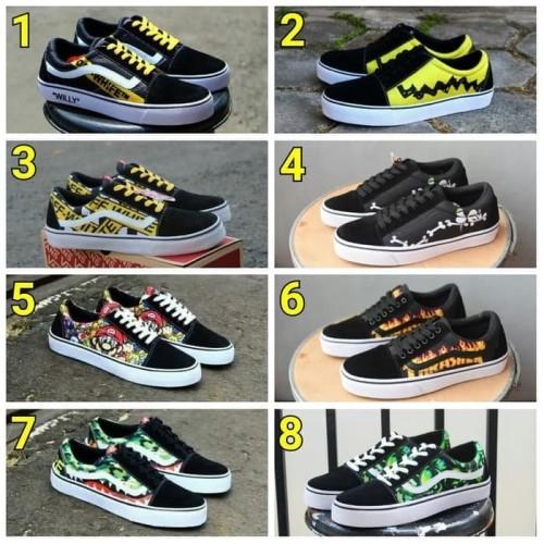 Foto Produk Sepatu Pria casual Vans Old school anak sekolah kuliah /Free kaos kaki dari Asya shop Bandung