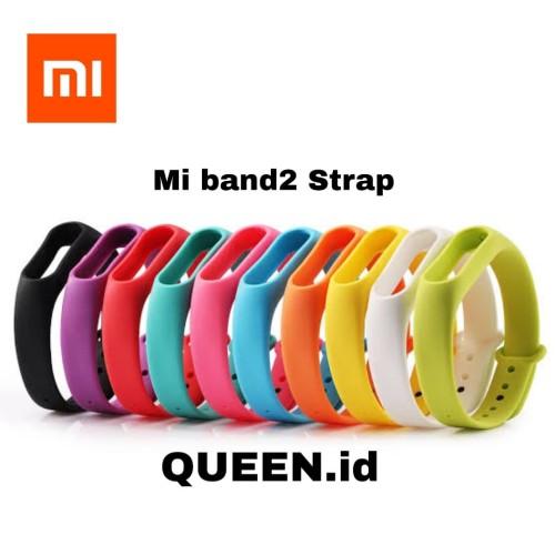 Foto Produk Xiaomi Mi Band 2 Strap Barcelet / Strap silicon Mi Band 2 / Mi Band 2 dari QUEEN-id