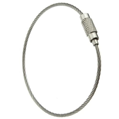 Foto Produk Carabiner Wire Key Ring Chain Stainless Gantungan Kunci Kawat dari TB.Mutiara Jaya