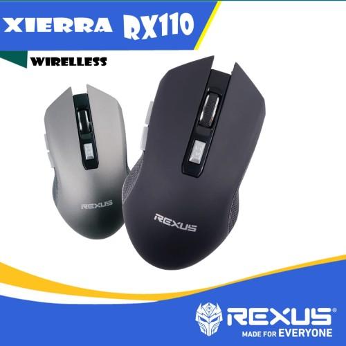 Foto Produk mouse wireless rexus rx110 hitam dari haga komputer