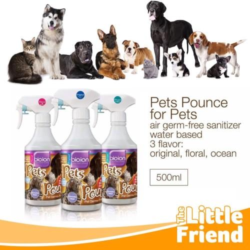 Foto Produk Pets Pounce Spray Stain Odor Penghilang Bau Anjing Kucing Multi Fungsi - 500ML, OCEAN dari The Little Friend