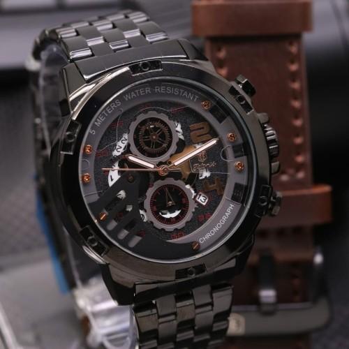 Foto Produk Jam Tangan Pria Tetonis Original New Series Garansi 1 Tahun - Hitam Tali CT dari Grosiran Jam Murah