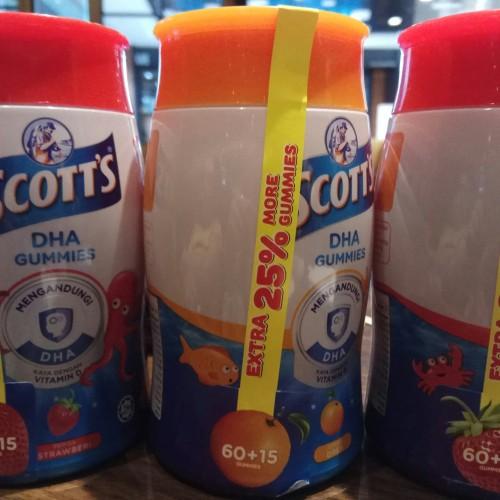 Foto Produk Scotts DHA Gummies 60pc extra 15pc - Orange dari Flori Kitchen shop