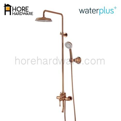 Foto Produk WATERPLUS Kran Shower Column Tiang MRB 211 Copper Rose Gold / Black - Rose Gold dari HORE Hardware