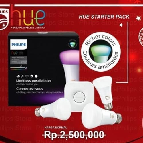 Foto Produk PHILIPS HUE Starter Pack - Include 3 LED Lampu + 1 Bridge Router HUE dari Toko Murah