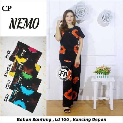 Foto Produk Setelan CP Nemo / babydoll / celana panjang / Daster dari RisqianaBatik