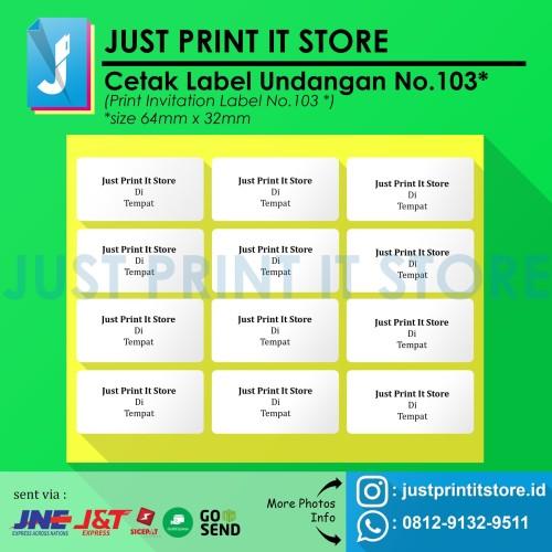 Foto Produk Print / Cetak Label Undangan No.103 dari Just Print It Store ID