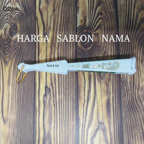 Foto Produk Souvenir Pernikahan - Sablon Nama untuk Kipas dari NICODESIGN