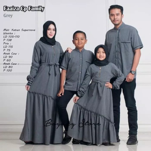 Foto Produk FAAYZA FAMILY COUPLE GAMIS KELUARGA 1 ANAK CWEK dari Batik MasTri Solo