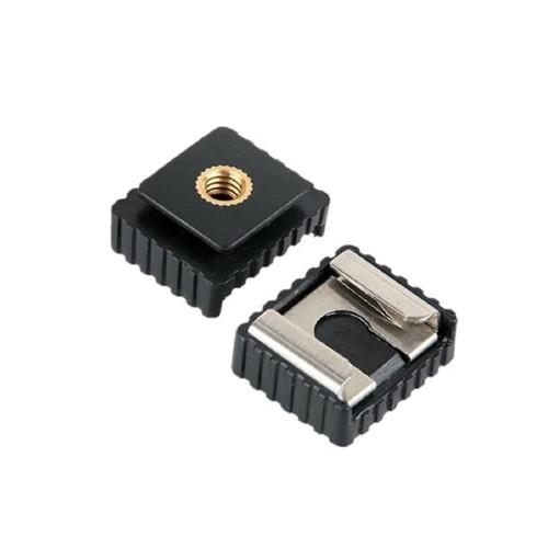 Foto Produk Metal flash hot shoe mount adapter to 1/4 thread for stand tripod dari MACRO