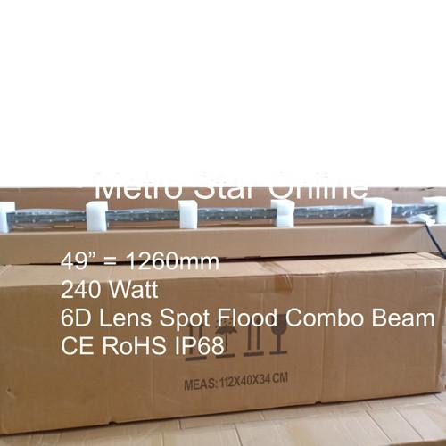 """Foto Produk LED Light Bar Super Slim 49"""" 240w 6D Lens Spot Flood Combo Beam dari Metro Star Online"""