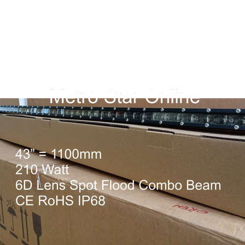 "Foto Produk LED Light Bar Super Slim 43"" 210w 6D Lens Spot Flood Combo Beam dari Metro Star Online"