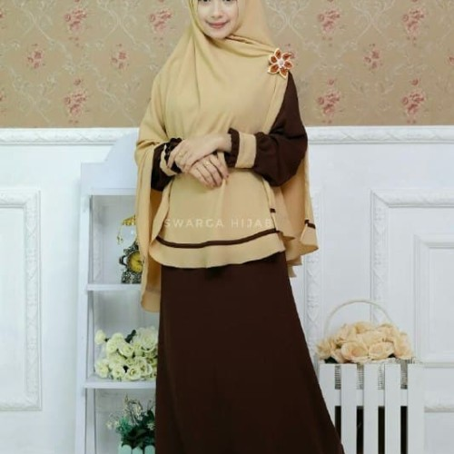 Jual Set Gamis Firda Coklat Tua By Swarga Hijab Kab Tulungagung Galeri Busana Syari Tokopedia