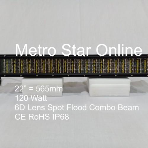 "Foto Produk LED Light Bar 4 Row 22"" 120w 6D Lens Spot Flood Combo Beam dari Metro Star Online"