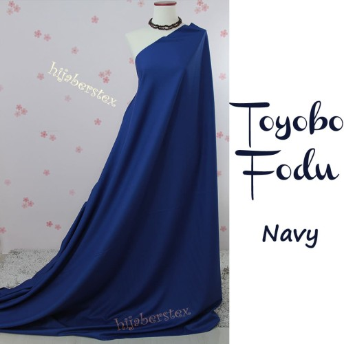 Foto Produk HijabersTex 1/2 Meter Kain TOYOBO FODU Navy dari Pondok Hijabers