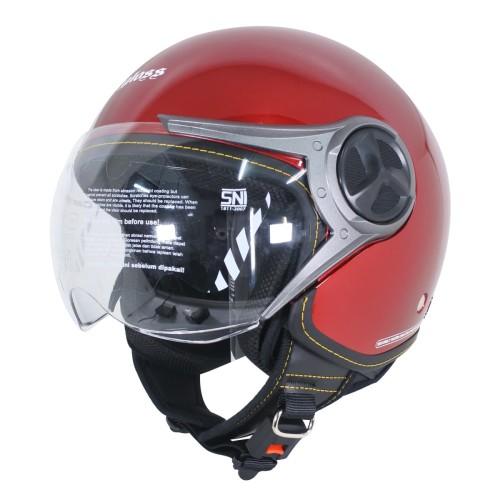 Foto Produk Cargloss YR HC Ghotic Helm Half Face - Deep Red Mett - M dari Helm Cargloss