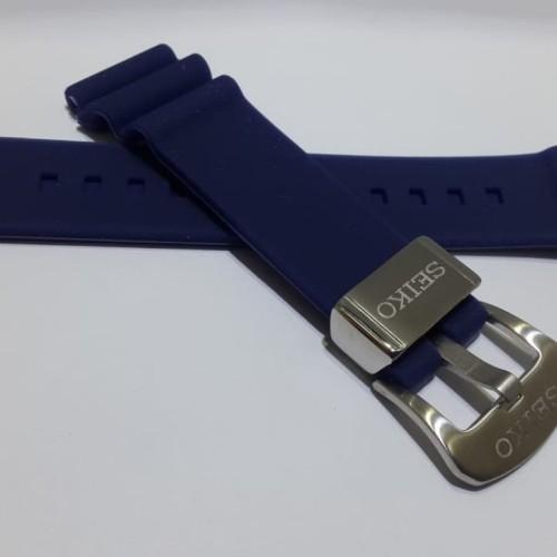 Foto Produk Strap Tali Jam Tangan Karet Silicone Rubber SEIKO Prospex Blue Navy dari Watchhappy
