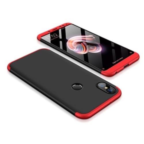 Foto Produk Xiaomi Redmi Note 5 Armor 360 Full Cover Baby Skin Hard Case 1127 - Hitam Biru dari Smart in case