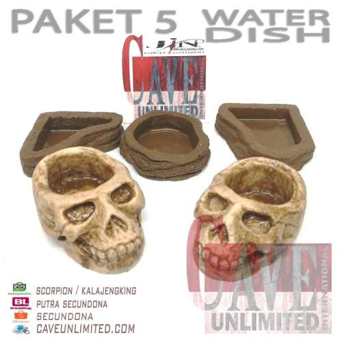 Foto Produk PAKET 5 WATER DISH MURAH MERIAH dari scorpion/ kalajengking