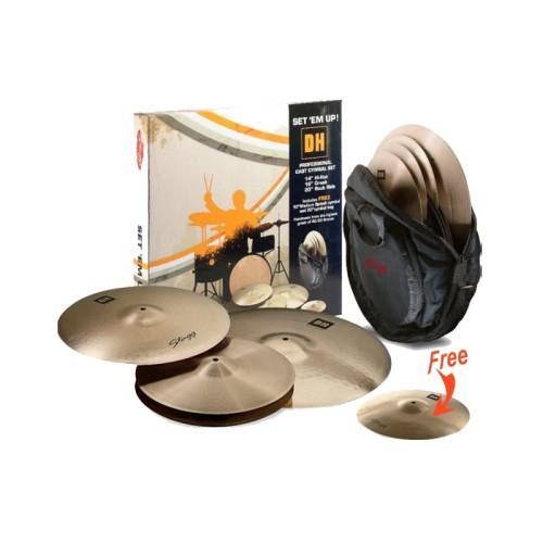 Foto Produk Stagg Cymbal DH-Set B, DH Brilliant Series dari Melodia Musik Online