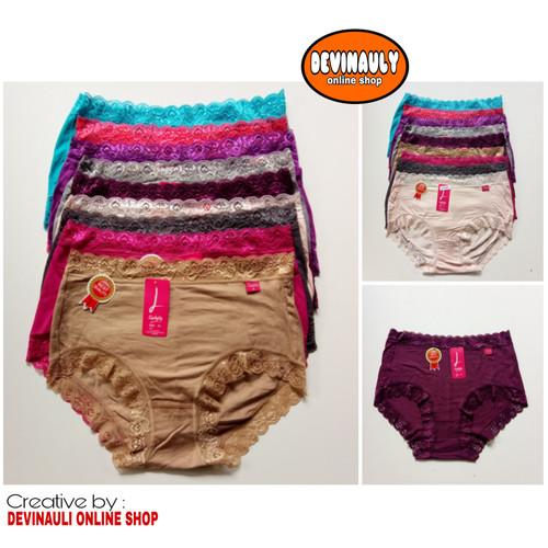 Foto Produk Murah (6 pcs) Celana dalam wanita Lydyly LD 045 renda dari devinauly online shop