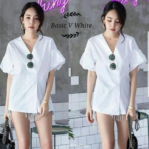 Foto Produk 903 Basic V White dari fashion_tnabang