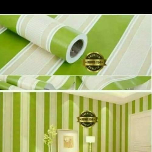 Foto Produk wallpaper dinding sticker salur hijau 45 cm x 10 m dari jay acc