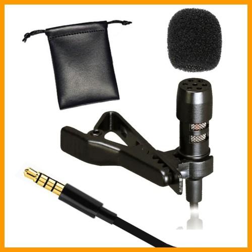 Foto Produk Mic Clip On Deluxe Lavalier Microphone HP Mikrofon Klip Handphone VLog dari BINTANG MULTIMEDIA