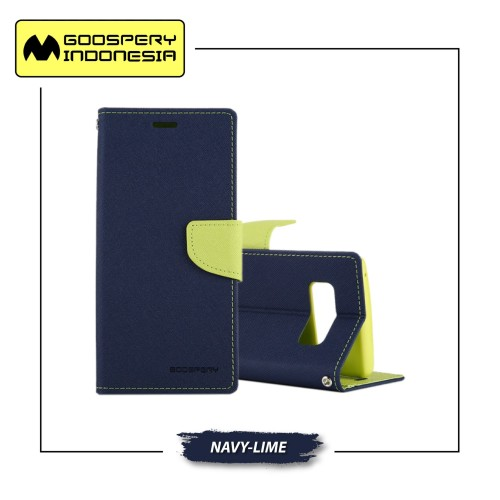 Foto Produk GOOSPERY Samsung Galaxy S9 Plus Fancy Diary Case - Navy Lime dari Goospery Indonesia
