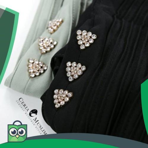 Foto Produk Khimar Haniya Size L Hijab Pesta Ceruti Polos dari Fitri Shop.ID