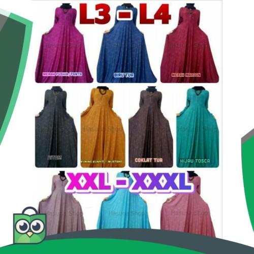 Foto Produk Gaun Pesta XXL - XXXL Jersey Motif Relief Long Dress Maxi L3 - L4 dari Fitri Shop.ID