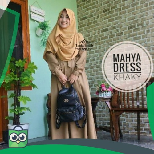 Foto Produk MAHYA DRESS KHAKY Cocok utk Seragam PNS dari Fitri Shop.ID