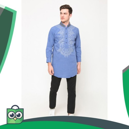 Foto Produk Okechuku Kemeja Koko Kurta Pakistan Ardhani Tangan Panjang dari Fitri Shop.ID