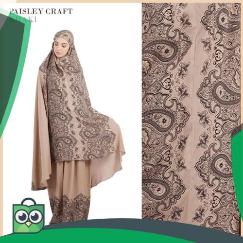 Foto Produk RumahTazkia Paisley Craft Khaki dari Fitri Shop.ID