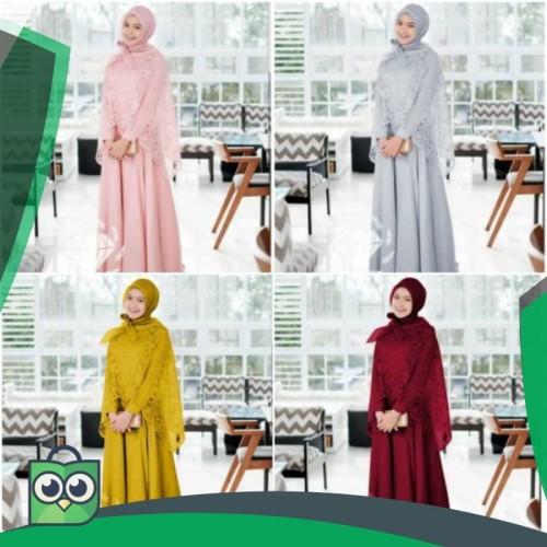 Foto Produk RESTOCK !! MAXI HANIZA DRESS GAMIS BRUKAT 4 WARNA dari Fitri Shop.ID