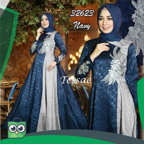 Foto Produk TESSAE NAVY ABU 32623 GAMIS PESTA TERLARIS dari Fitri Shop.ID