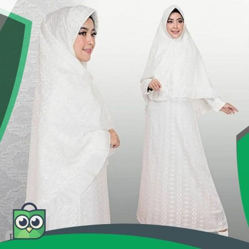 Foto Produk Gamis Putih Syari Premium dari Fitri Shop.ID