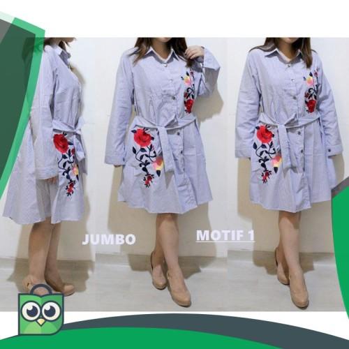 Foto Produk Hanbai - Tunik salur kerah tali bordir JUMBO 123 dari Fitri Shop.ID