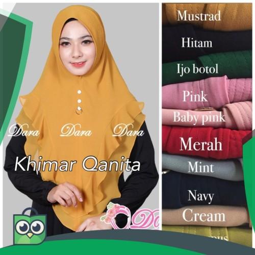 Foto Produk Kerudung Wanita Khimar Qanita Ori Dara dari Fitri Shop.ID