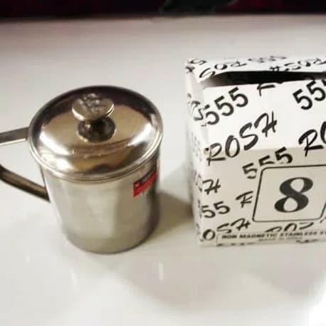 Foto Produk Mug Stainless Steel NON MAGNETIC 8CM ROSH 555 8 CM / Cangkir Gelas dari AGEN PERABOT FAMILY