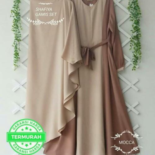 Foto Produk SHAFIYA SYARI - SET GAMIS KHIMAR BAJU DRESS MUSLIM KEKINIAN dari B.O.M baju Online murah1