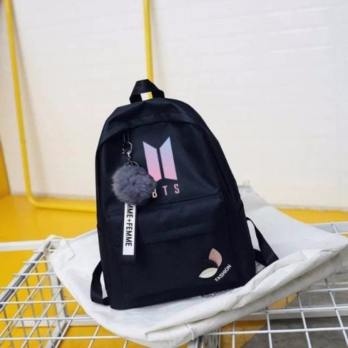 Foto Produk TAS CEWEK TAS WANITA TAS PEREMPUAN Blackpink K Pop Ransel BTS Dua Kal dari Rickz Apparel