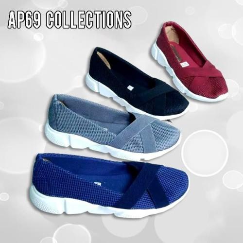 Foto Produk Sepatu Sneakers Slip On Fashion Kasual Wanita Mesh Ap69 dari DETECTOR