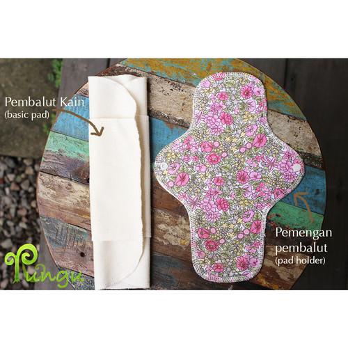 Foto Produk Rungu Pembalut Kain (100% Katun) *size M + Pemengan/Pad Holder* dari Rungu