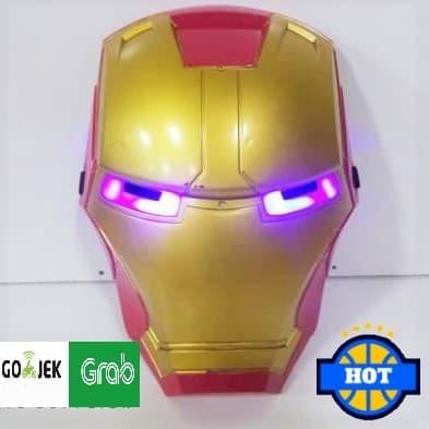 Foto Produk Topeng Avengers Iron Man / Ada Lampu Bisa Nyala dari Home Online Toys