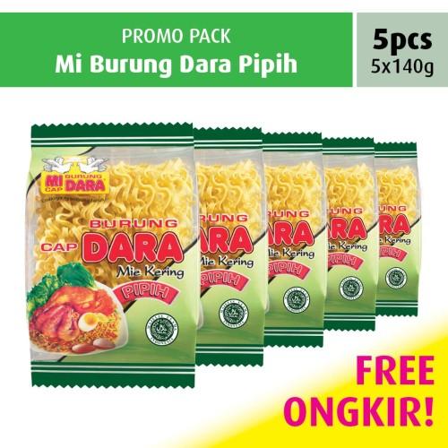 Foto Produk Mi Burung Dara Pipih Promo Pack (5 pcs) dari BURUNG DARA OFFICIAL
