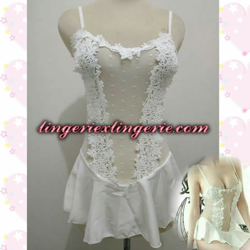 Foto Produk L-1254 - Lingerie Elegant Princess Floral Transparant White Costume dari Lingerie X Lingerie