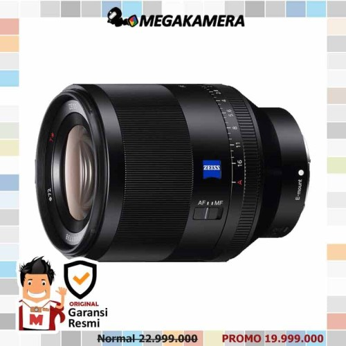 Foto Produk Sony Lens Planar T FE 50mm F1.4 ZA - Lensa Sony dari Megakamera