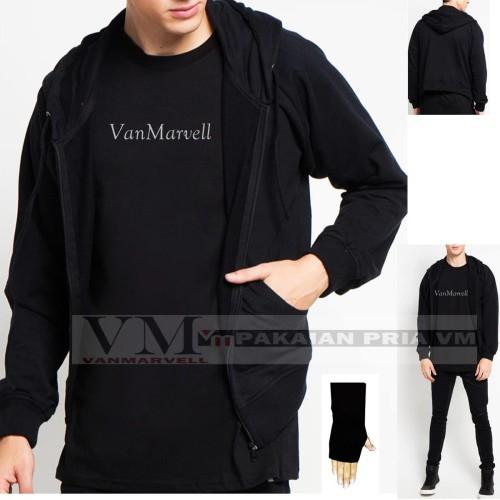 Foto Produk VM Jaket Polos Hitam Jaket Zipper Polos - Hitam, L dari VM VanMarvell