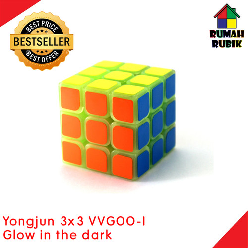 Foto Produk Rubik 3x3 Glow In The Dark / Rubik Glow In The Dark / Rubik Yongjun dari Rumah Rubik